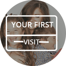 button link to first visit information